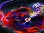 Intergallactic explosion