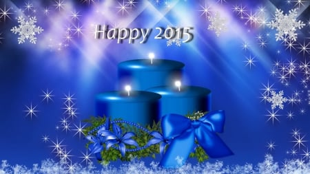 Happy 2015 - candles, New Year, celebration, 2015