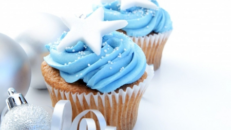 ♥ - cupcakes, yummy, blue, sweet