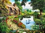 British garden landscape