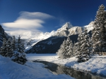 Winter Landscape at Lake Louise