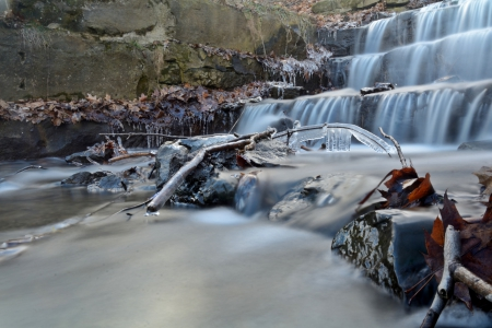 flowing falls - water stream, waterfall, water flow, flowing falls
