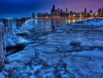 Winter View of Chicago Skyline