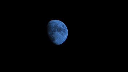 Once in a blue moon - Once in a blue moon, half moon, blue moon, full moon
