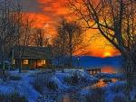 Burning Sky in Winter