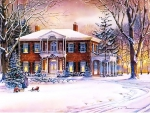 Country Home in Winter