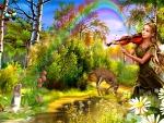 fantasy girl with violin