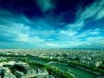 Beautiful Sky over Paris Cityscape