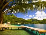 Beach's Dock In Tahiti