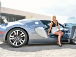 Kendall and her Bugatti