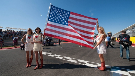Cowgirls For America - female, models, boots, fun, women, event, brunettes, American Flag, cowgirls, girls, blondes, style