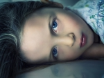 Little girl with blue eyes