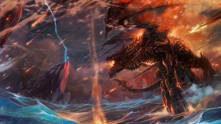 Deathwing World Of Warcraft Video Games Background Wallpapers On