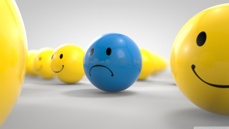 sad ball - sad, ball, face, smiley