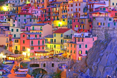 Cinque Terre, Italy - architecture, bright colors, houses, colors, cinque terre, italy