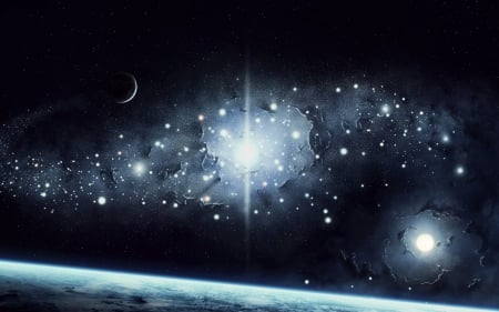 earth moon stars sun stars space background wallpapers on