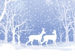 Deer in Blue Forest