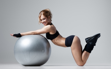 Fitness Girl Other People Background Wallpapers On