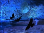 ★Blue Moon with Ravens★