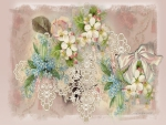 Vintage Flowers and Lace