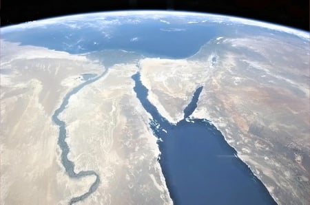 Egypt and red sea - egypt, red sea, earth, space