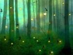 Starlit Forest