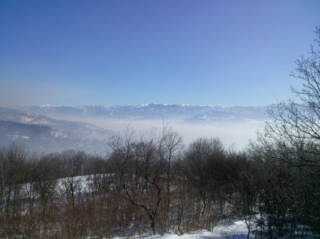 Hidden city by the fog - srbija, serbia, vranje, beautiful, snowy, run, fog, mountain, city, river, forest, hide, sneg, snow, mountains, jogging, grad, running, white, hidden, landscape