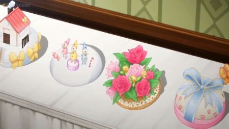 Sweet Cake - cake, pretty, item, object, adorable, floral, sweet, blossom, nice, yummy, anime, delicious, lovely, food, cute, railgun, kawaii, to aru kagaku no railgun, flower, scene