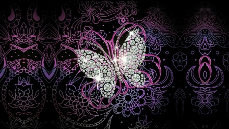 DIAMOND Butterfly - 3D and CG & Abstract Background ...