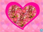 Pink Heart with Flowers