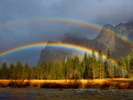 Double Rainbow Over Yosemite