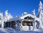 Loghut in Winter