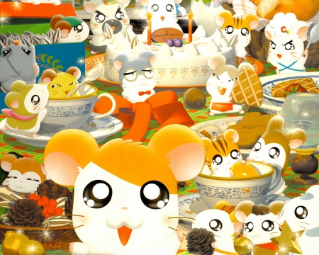 Hamtaro - Anime, Cartoon, Hamster, Hamtaro, Rodent
