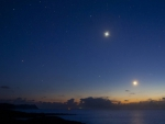 stars over an ocean