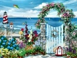 Garden Gate in Summer F2Cmp