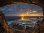 Sunset View from Ocean Cave