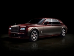 burgandy rolls royce phantom