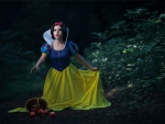 Snow white lost in the woods