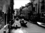 venice canal in monochrome