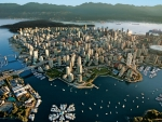 spectacular aerial view of vancouver