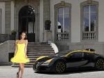 Janice Griffith and a Bugatti