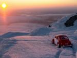 Sunset on a VW