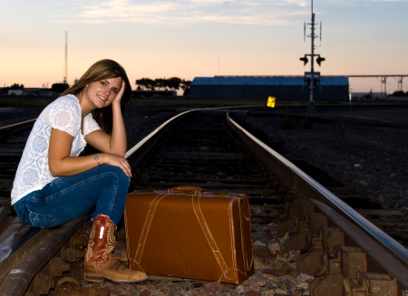 Moving On - boots, jeans, cowgirl, tracks
