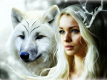 Wolf And Girl: Winter - For Melissa
