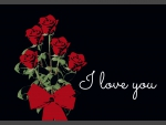 Dark Love (laid-back love card with black background)