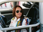 Lindsay Lohan and racing jacket
