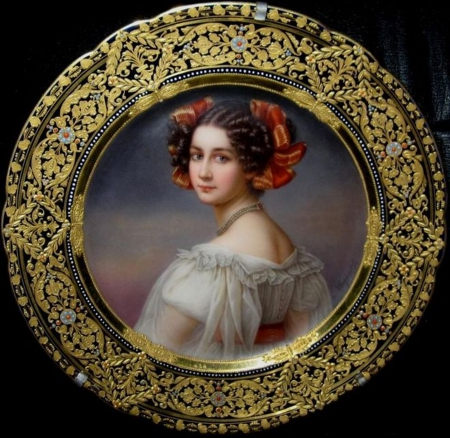 Beautiful painting - painting, plate, great, girl