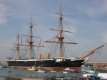 HMS Warrior at Portsmouth, UK