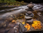*Stone composition beside the creek*