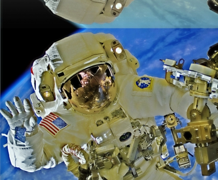 astronaut in space - top secret, earth, orbit, nasa